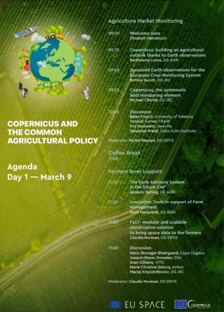 Copernicus industry Workshop agenda day 1